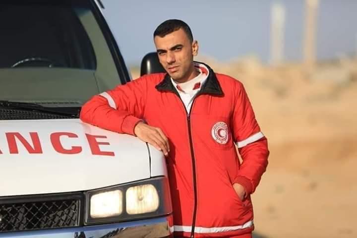 Paramedic Mohammed Al Jadeili Photo: Palestine al-Aan news agency